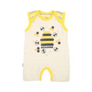 رامپر شورتی نوزادی آدمک طرح زنبور