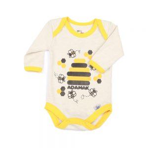 زیر دکمه آستین بلند نوزادی آدمک طرح زنبور