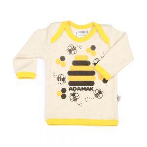 تی شرت آستین بلند نوزادی آدمک طرح زنبور