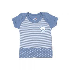 تی شرت آستین کوتاه نوزادی آدمک طرح فیل کوچولو
