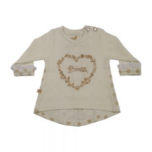 بلوز آستین بلند نوزادی پوشیران طرح پرنسس