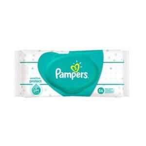 دستمال مرطوب درب دار پمپرز Pampers بسته 56 عددی