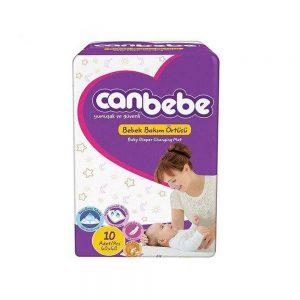 زیرانداز تعویض نوزاد یکبار مصرف جان به به Canbebe بسته 10 عددی