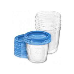ست ظرف ذخیره شیر و غذای کودک فیلیپس اونت بسته پنج عددی