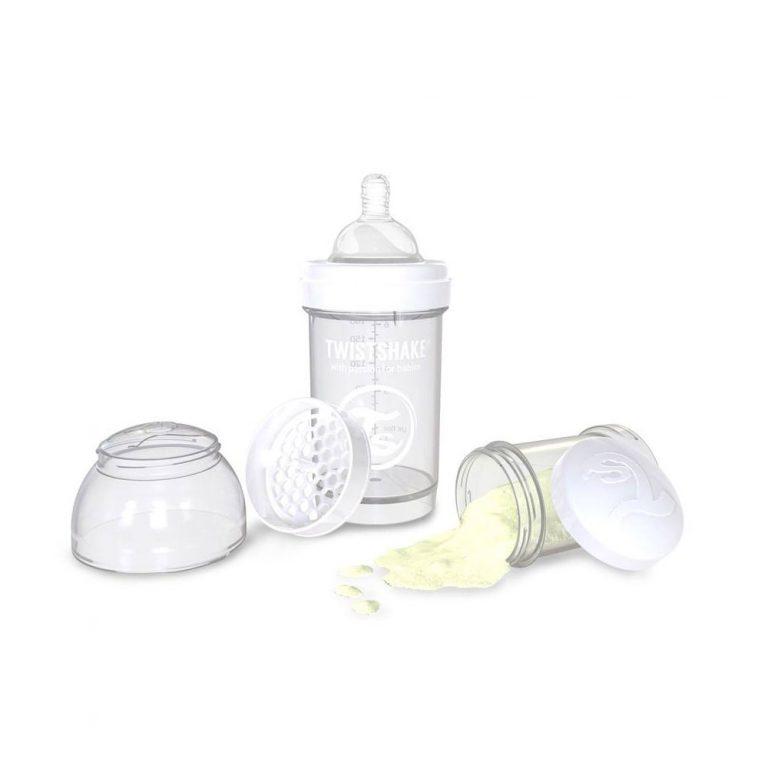 شیشه شیر 0+ ماه تویست شیک Twistshake ظرفیت 180 میلی لیتر سفید