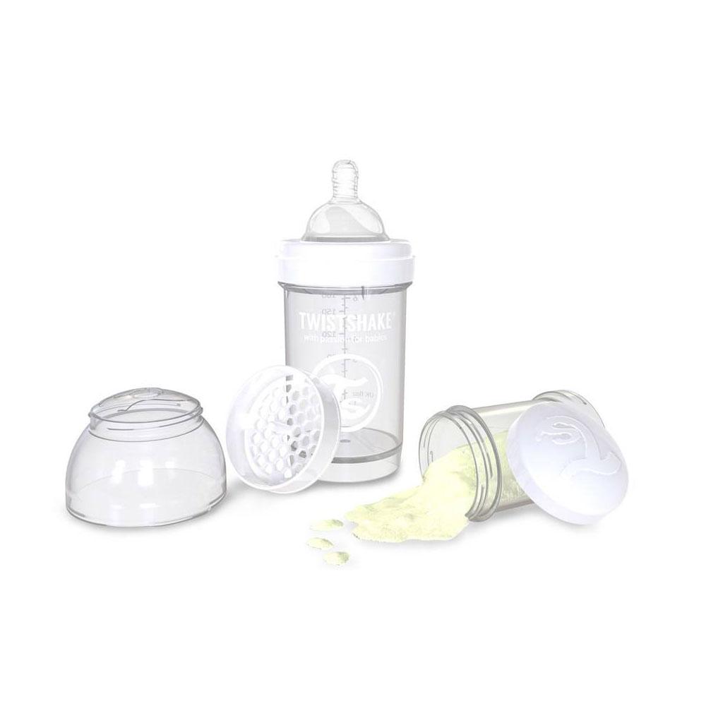 شیشه شیر تویست شیک Twistshake ظرفیت 180 میلی لیتر سفید