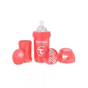 شیشه شیر تویست شیک Twistshake ظرفیت 180 میلی لیتر قرمز صدفی