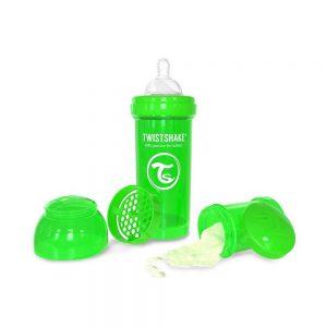 شیشه شیر تویست شیک Twistshake ظرفیت 260 میلی لیتر سبز