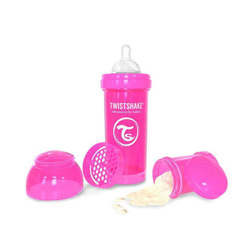 شیشه شیر تویست شیک Twistshake ظرفیت 260 میلی لیتر صورتی