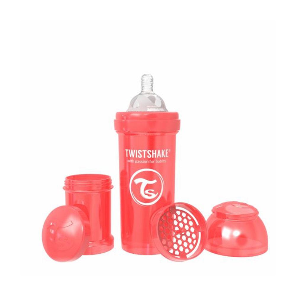 شیشه شیر تویست شیک Twistshake ظرفیت 260 میلی لیتر قرمز صدفی