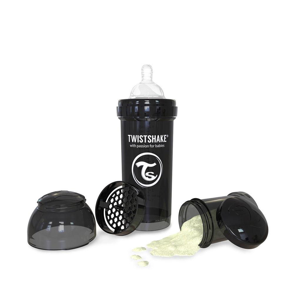 شیشه شیر تویست شیک Twistshake ظرفیت 260 میلی لیتر مشکی