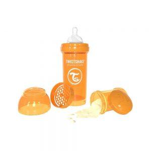 شیشه شیر تویست شیک Twistshake ظرفیت 260 میلی لیتر نارنجی