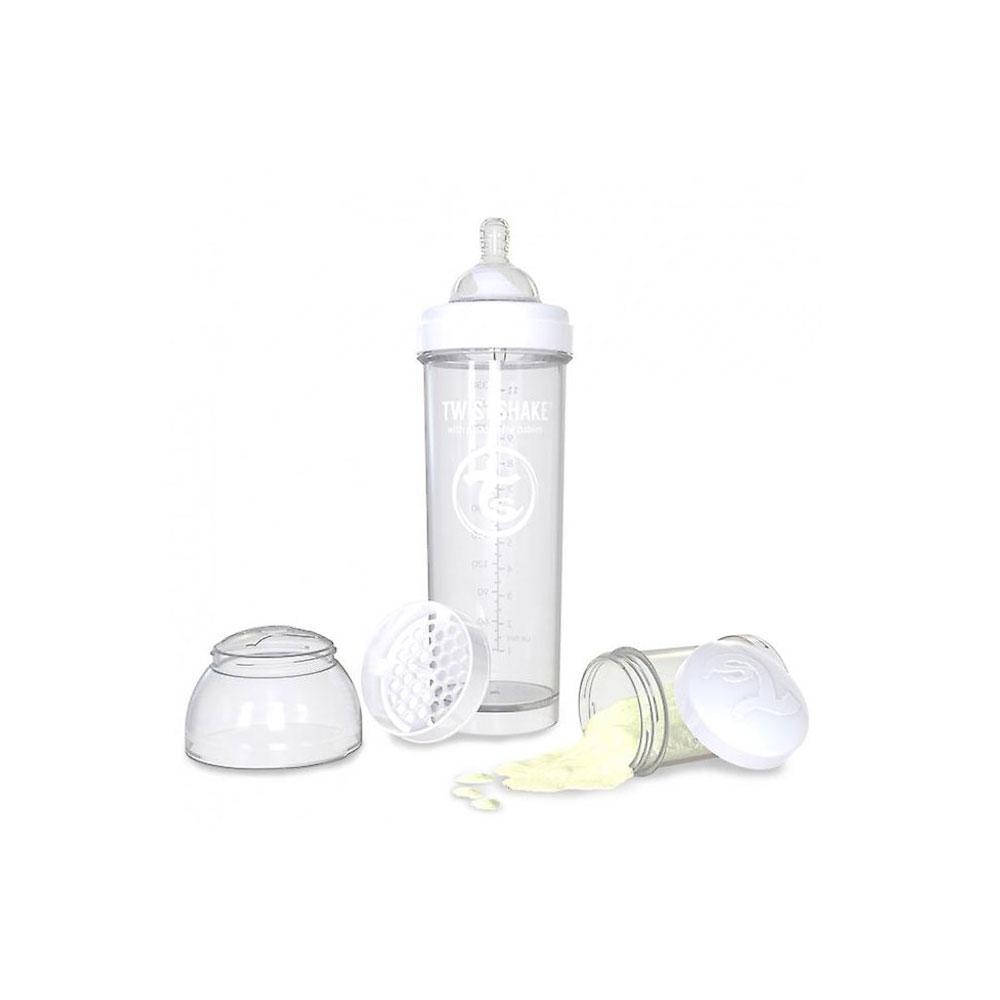 شیشه شیر تویست شیک Twistshake ظرفیت 330 میلی لیتر سفید