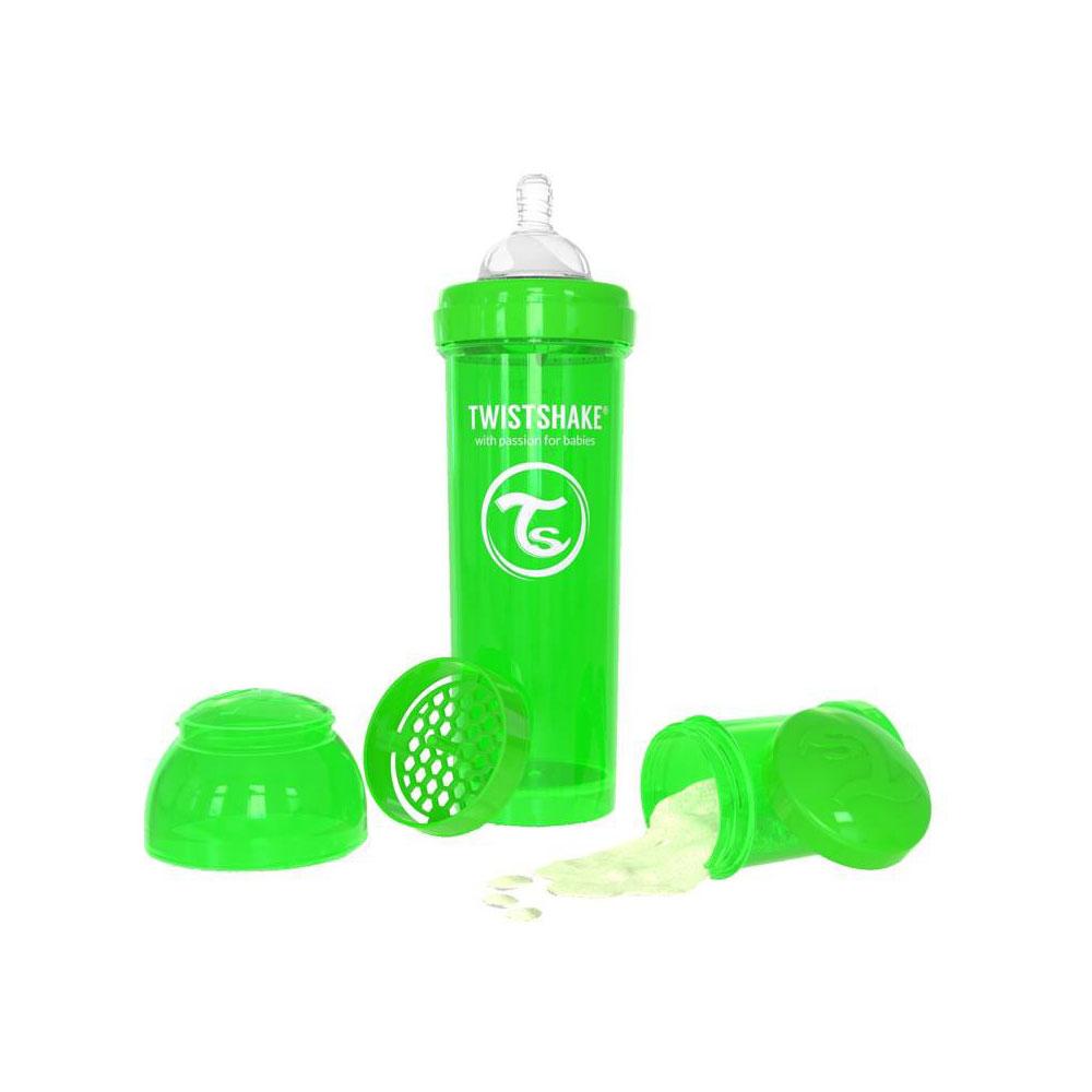 شیشه شیر تویست شیک Twistshake ظرفیت 330 میلی لیتر سبز