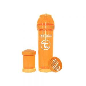 شیشه شیر تویست شیک Twistshake ظرفیت 330 میلی لیتر نارنجی
