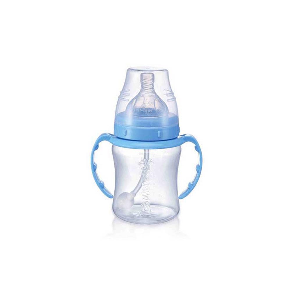 شیشه شیر بی بی سیل مدل نی دار ظرفیت 180 میلی لیتر آبی