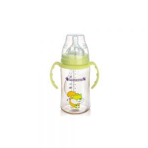 شیشه شیر بی بی سیل مدل نی دار ظرفیت 300 میلی لیتر سبز