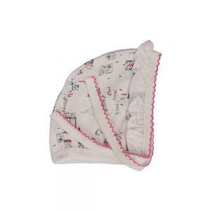 کلاه بندی نوزادی دخترانه لیدولند طرح چرخ و فلک