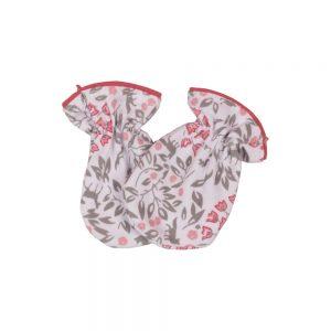 دستکش نوزادی دخترانه لیدولند طرح گل لاله