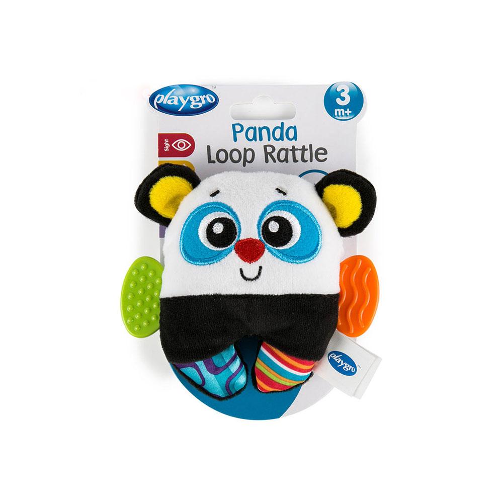 عروسک جغجغه ای دندانگیر دار پلی گرو Playgro طرح پاندا