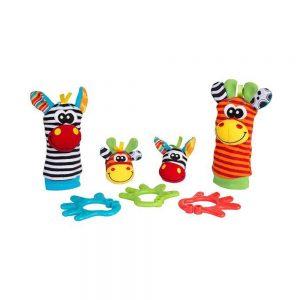 ست مچبند و پاپوش جغجغه ای و دندانگیر کودک پلی گرو Playgro