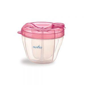 ظرف ذخیره شیر و غذا نوویتا Nuvita صورتی