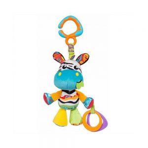 عروسک گیره دار جغجغهای گورخر پلی گرو Playgro