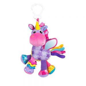 عروسک 10 اینچی آویزدار اسب شاخ دار پلی گرو Playgro صورتی
