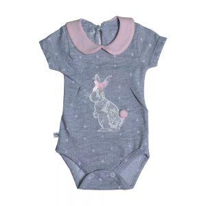 زیردکمه آستین کوتاه نوزادی پوشیران طرح خرگوش بامبی