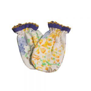 دستکش نوزادی لیدولند طرح گل و ژور