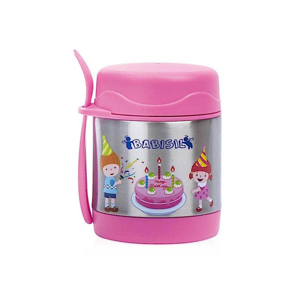 Babisil food flask with a capacity of 300 ml pink