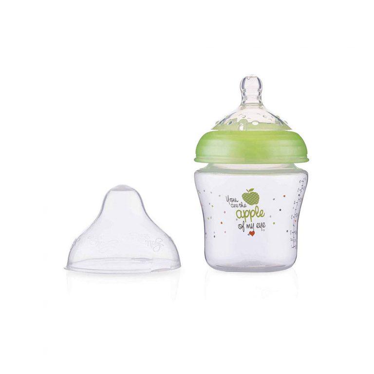 شیشه شیر طلقی 0+ ماه نابی NUBY ظرفیت 180 میلی لیتر سبز