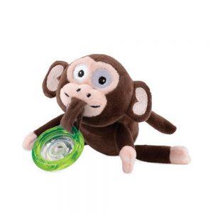 پستانک 6-0 ماه با آویز عروسک پولیشی میمون نابی NUBY