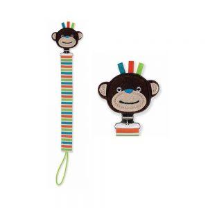 بند پستانک عروسکی طرح میمون نابی NUBY