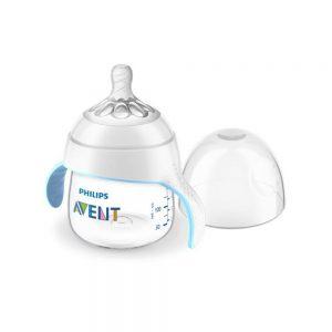 شیشه شیر طلقی 4+ ماه دسته دار فیلیپس اونت Philips Avent ظرفیت 150 میلی لیتر
