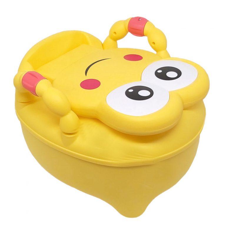 توالت فرنگی و لگن کودک طرح قورباغه زرد رنگ