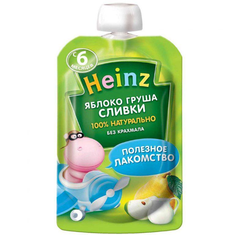 پوره ساندیسی سیب گلابی خامه ای هاینز Heinz