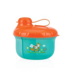 ظرف ذخیره شیر و غذا طرح روباه نابی NUBY سبز آبی