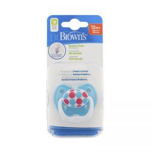 پستانک ارتودنسی 12+ ماه طرح توپ آبی دکتر براون Dr Brown's
