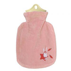 کیسه آب گرم صورتی خرگوش و ستاره