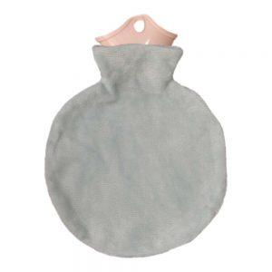 کیسه آب گرم صورتی طوسی دایره ای