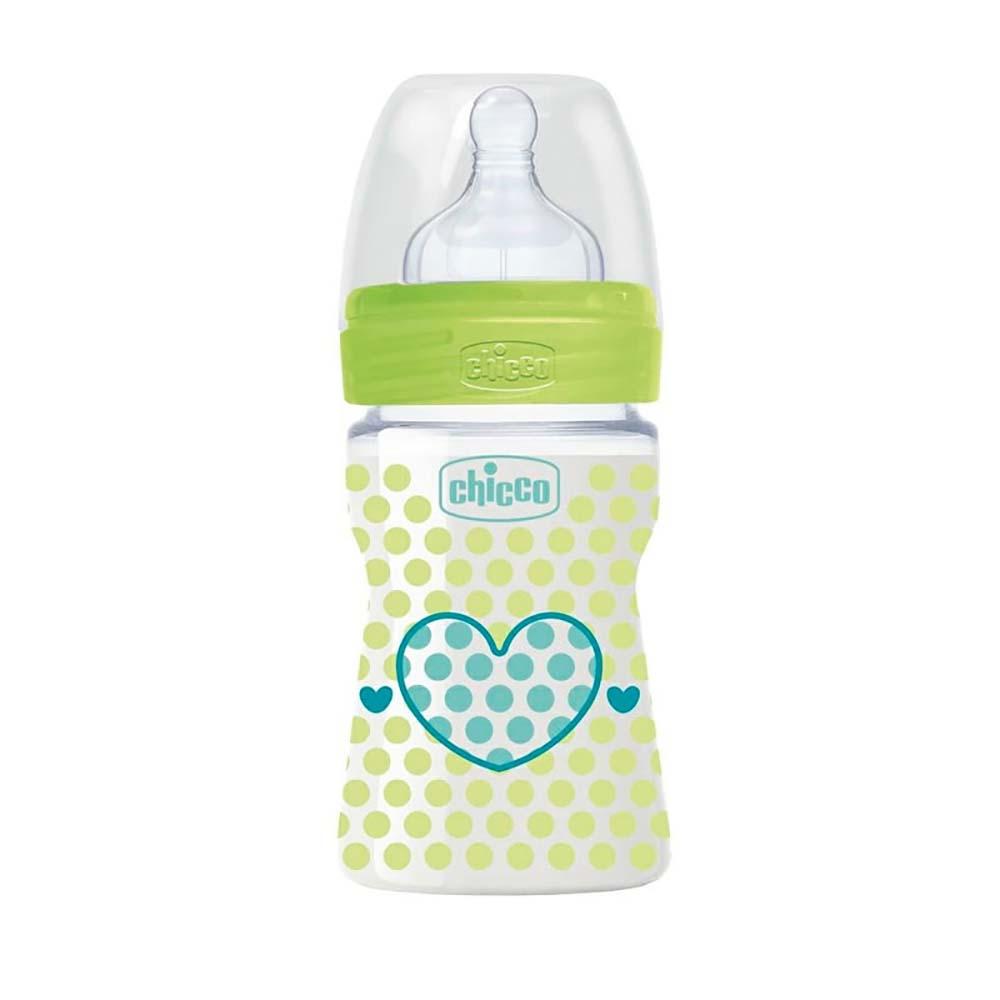 شیشه شیر wellbeing چیکو Chicco ظرفیت 150 میلی لیتر
