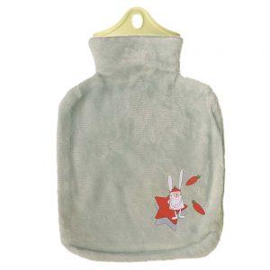 کیسه آب گرم طوسی طرح خرگوش و ستاره