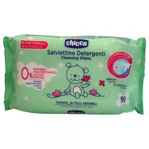 دستمال مرطوب سبز چیکو Chicco بسته 60 عددی
