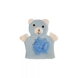 لیف حمام کودک طرح خرس آبی