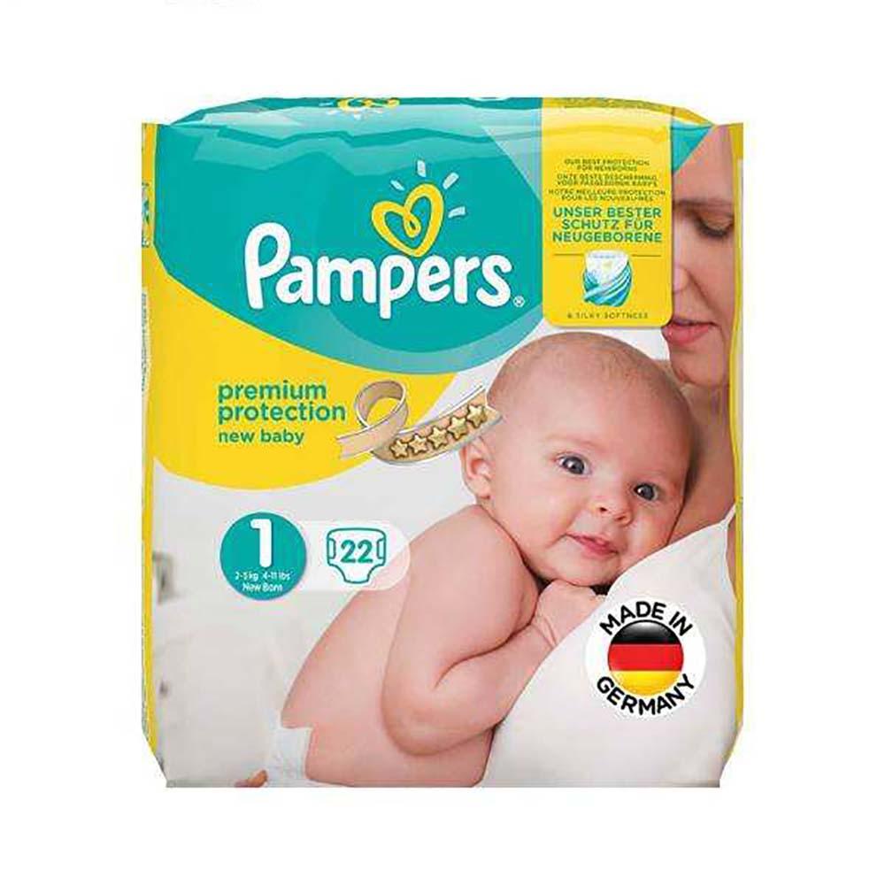 پوشک پمپرز Pampers مدل Premium سایز 1 بسته 22 عددی