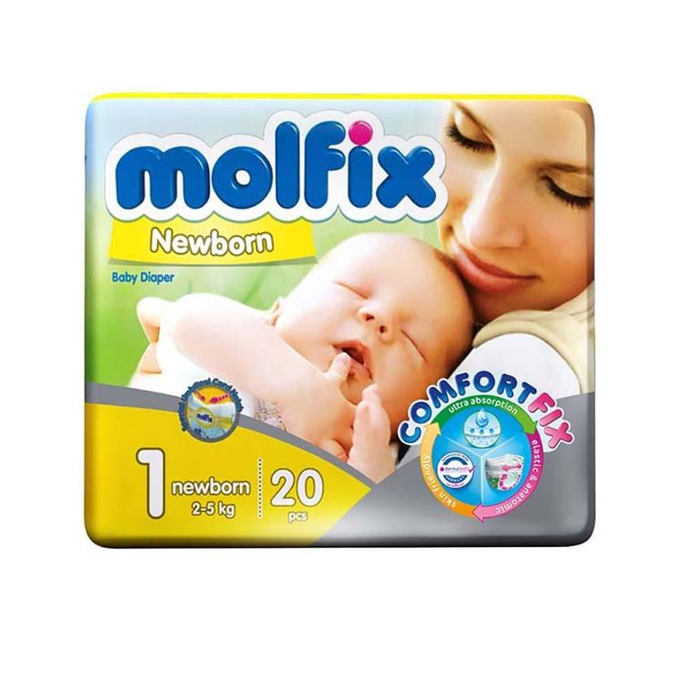 پوشک مولفیکس Molfix مدل Newborn سایز 1 بسته 20 عددی