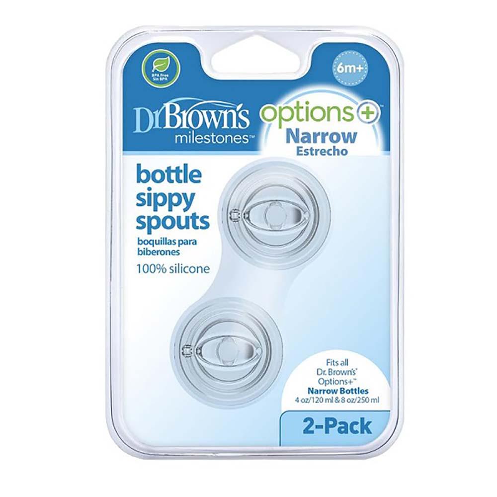 سرشیشه آب میوه خوری باریک 6+ ماه دکتر براون Dr Browns بسته دو عددی