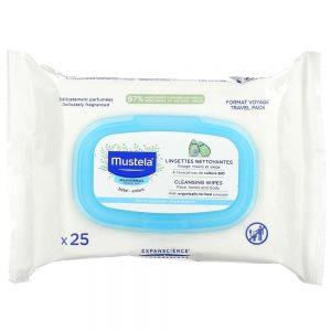 دستمال مرطوب کودک ماستلا Mustela بسته 25 عددی