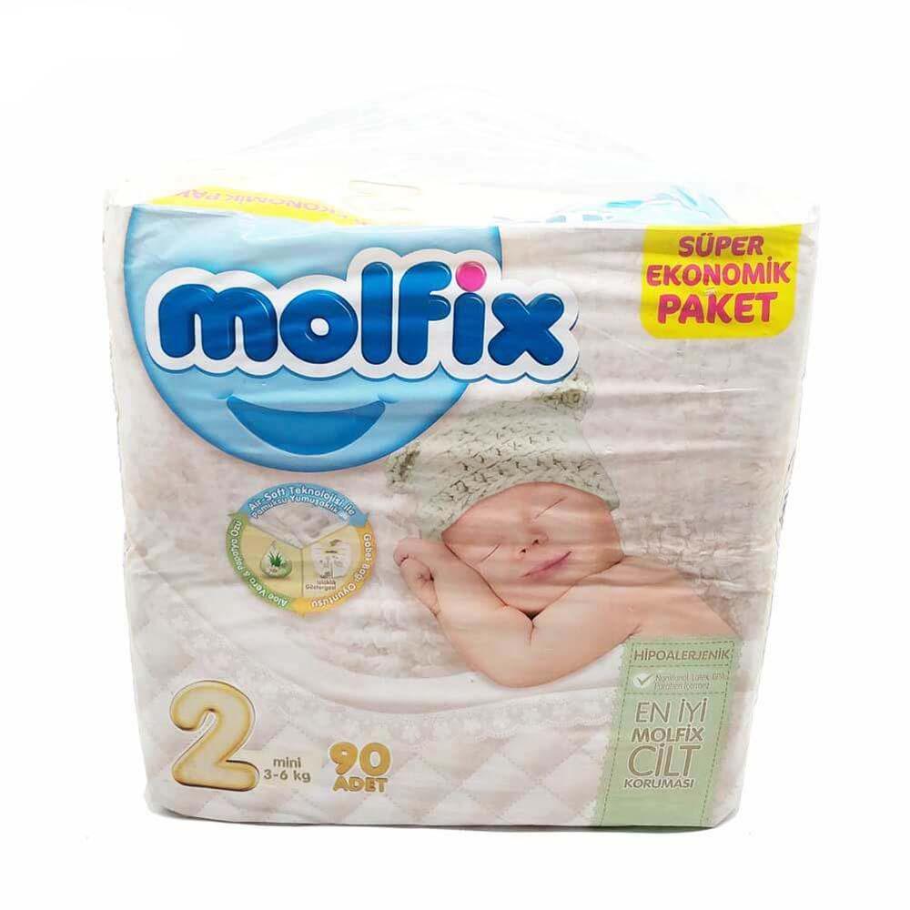 پوشک مولفیکس Molfix مدل چسبی سایز 2 بسته 90 عددی